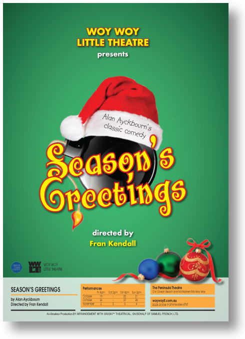 Seasons greetings octnov woy woy little theatre seasons greetings opens friday 19 october 2018 m4hsunfo